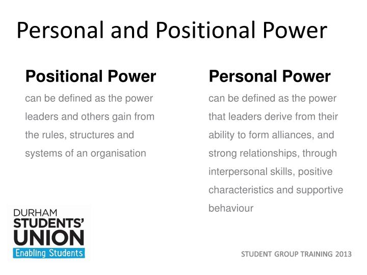 Personal and Positional Power