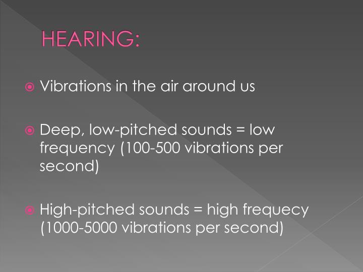 HEARING:
