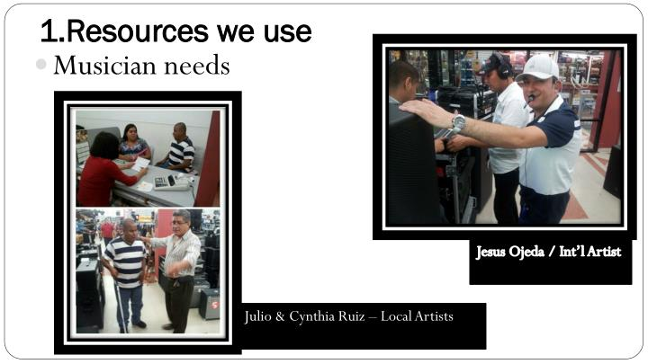 1 resources we use