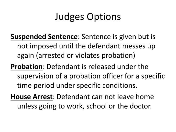 Judges options
