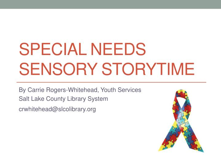 special needs sensory storytime n.