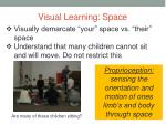visual learning space
