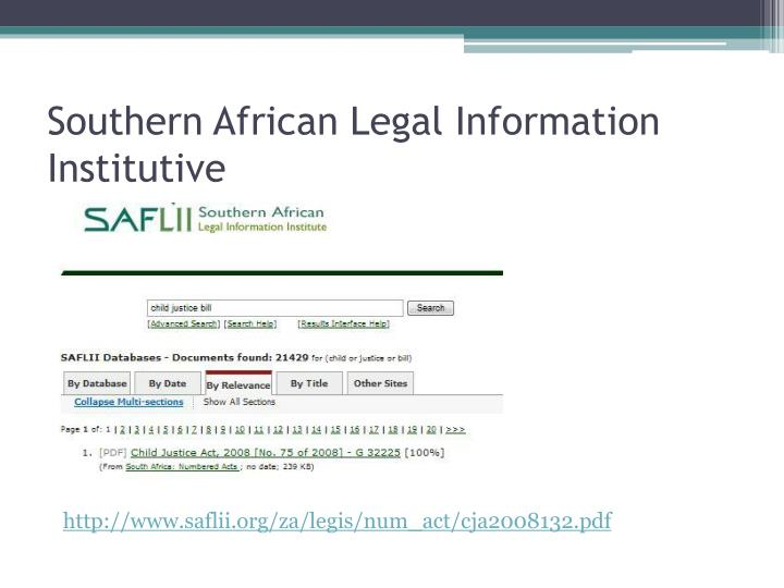 Southern African Legal Information Institutive