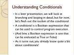 understanding conditionals