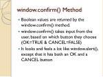 window confirm method