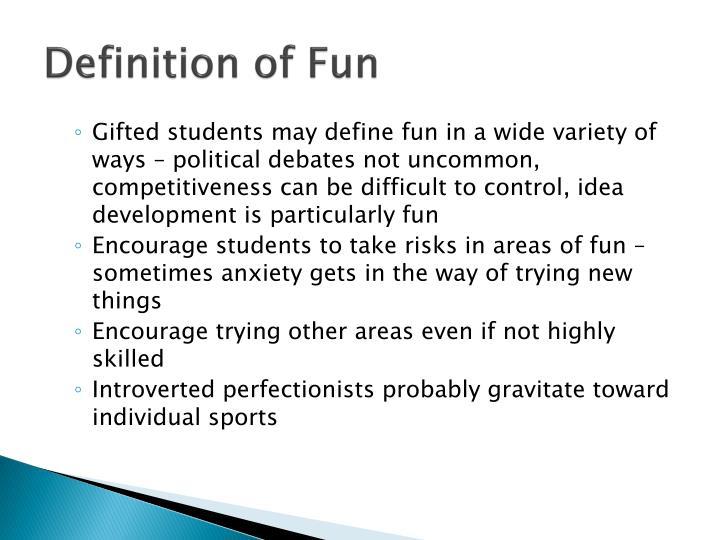 Definition of Fun