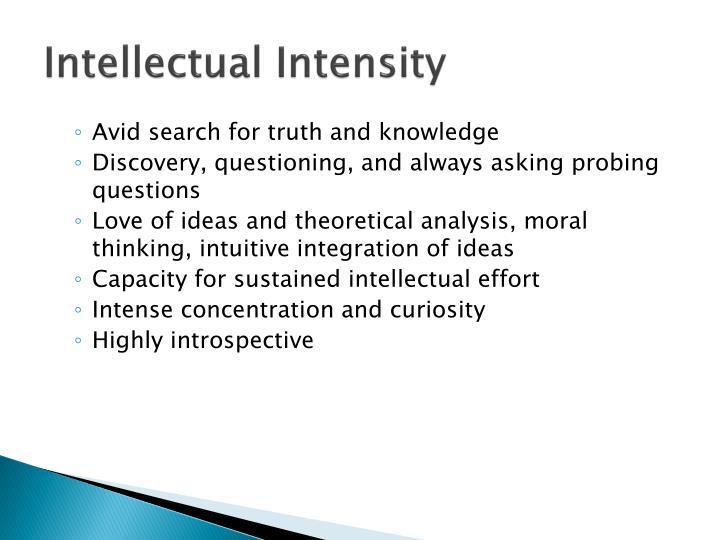 Intellectual Intensity
