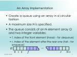 an array implementation