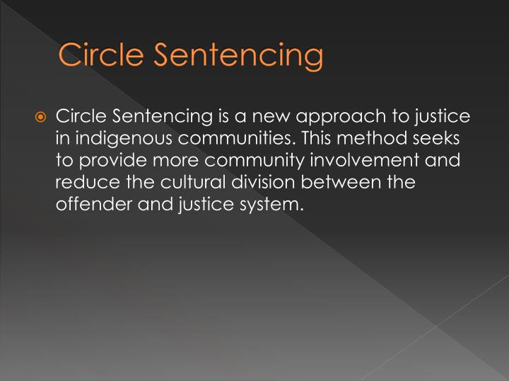 Circle Sentencing