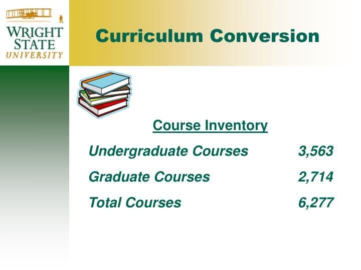 Curriculum Conversion