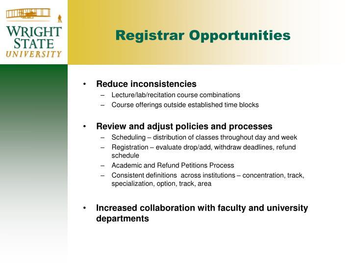 Registrar Opportunities