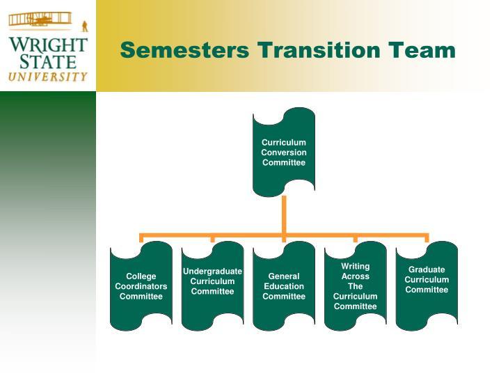 Semesters Transition Team