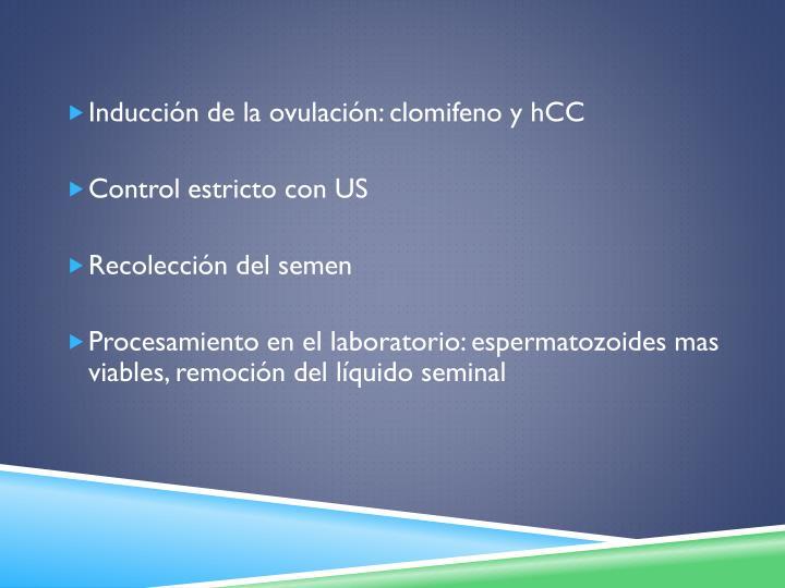 Inducción de la ovulación: