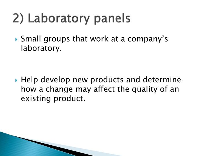 2) Laboratory panels