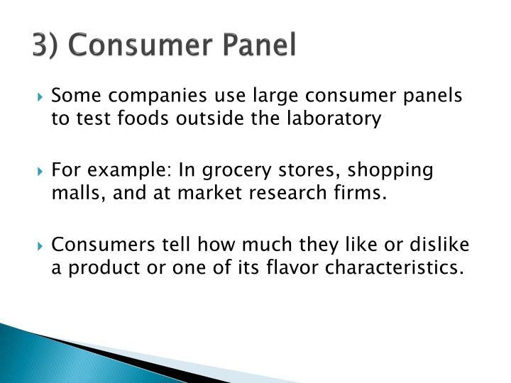 3) Consumer Panel