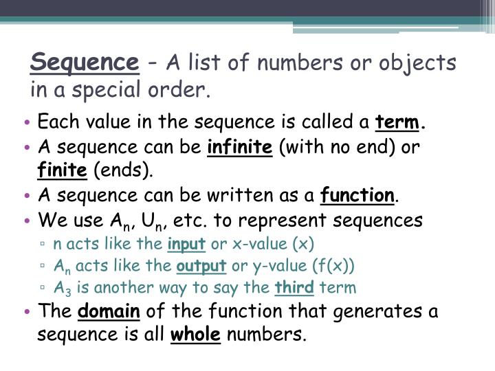 Sequence a list of numbers or objects in a special order