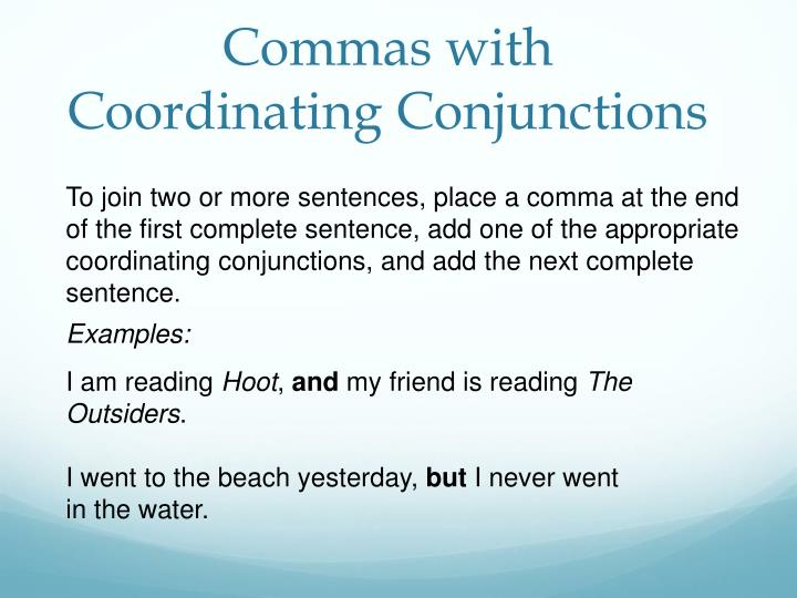 Commas with