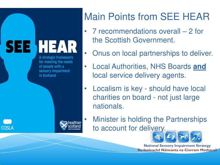 Main Points from SEE HEAR