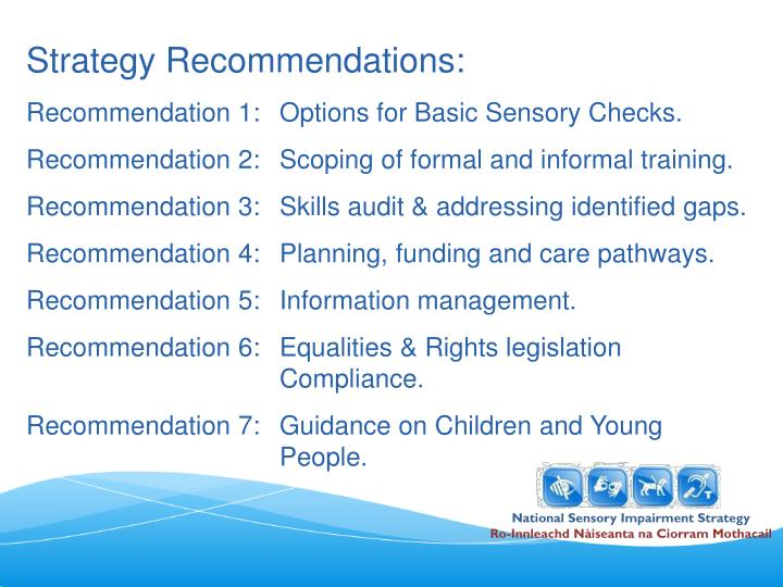 Strategy Recommendations: