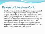 review of literature cont