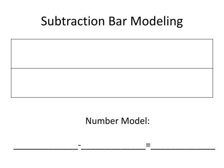 Subtraction bar modeling1