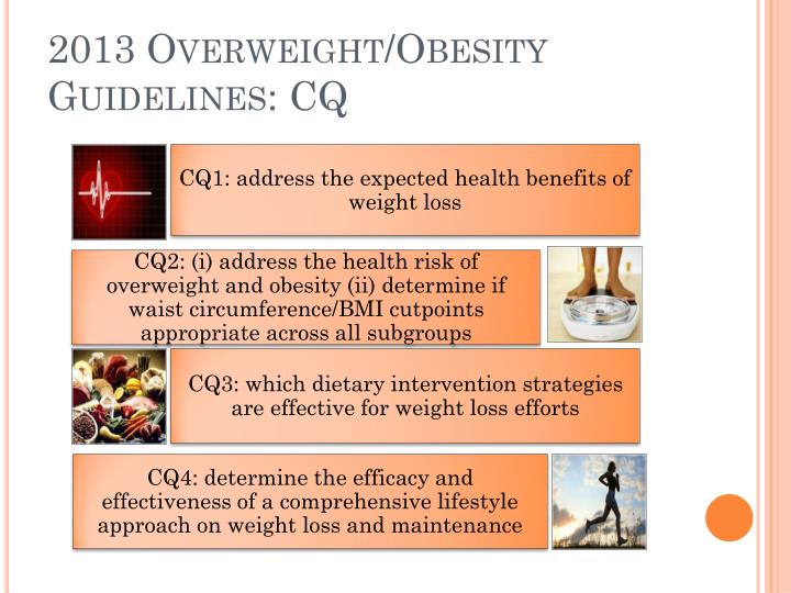 2013 Overweight/Obesity Guidelines: CQ