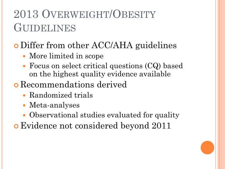 2013 Overweight/Obesity