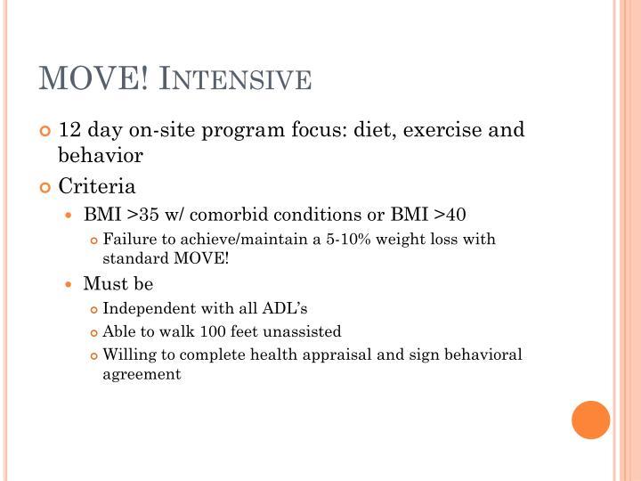 MOVE! Intensive
