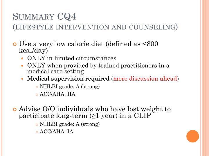 Summary CQ4