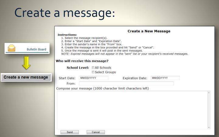 Create a message: