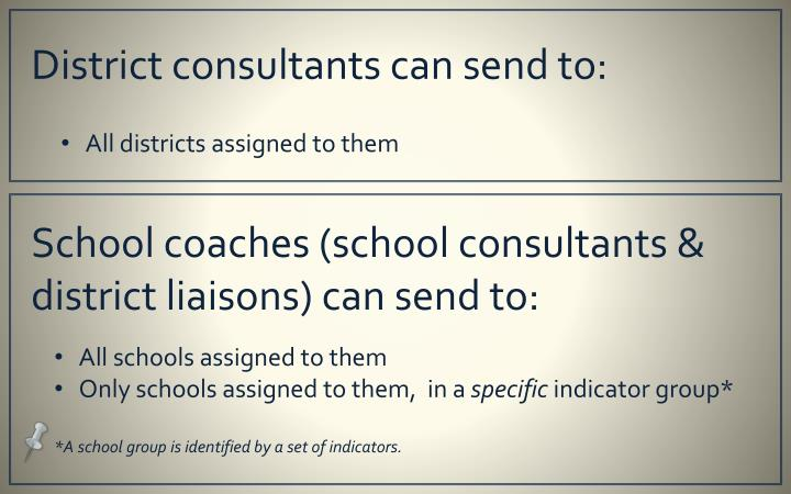 District consultants can send to: