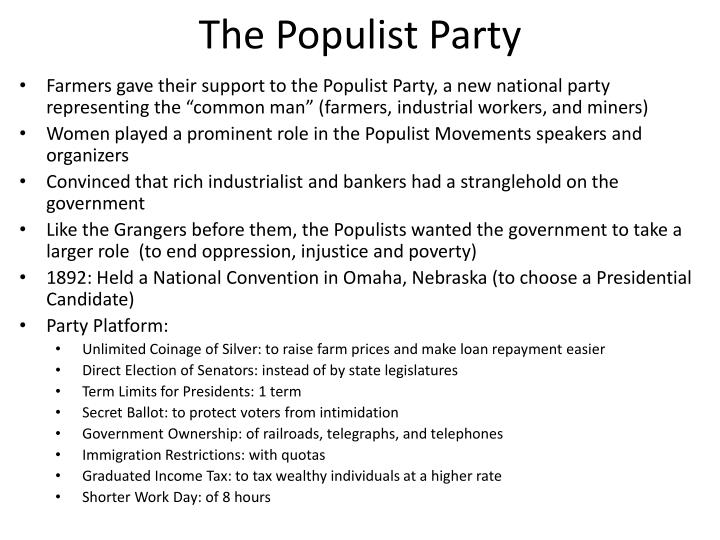 the populist party n.