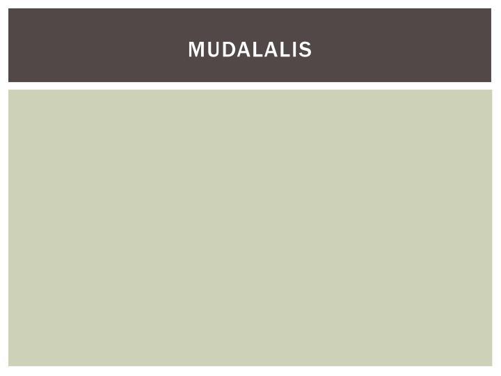Mudalalis