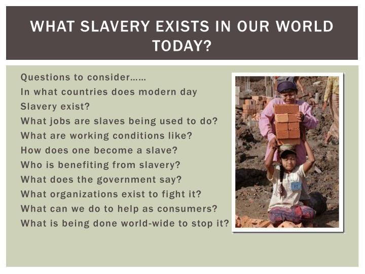 What slavery exists in our world today