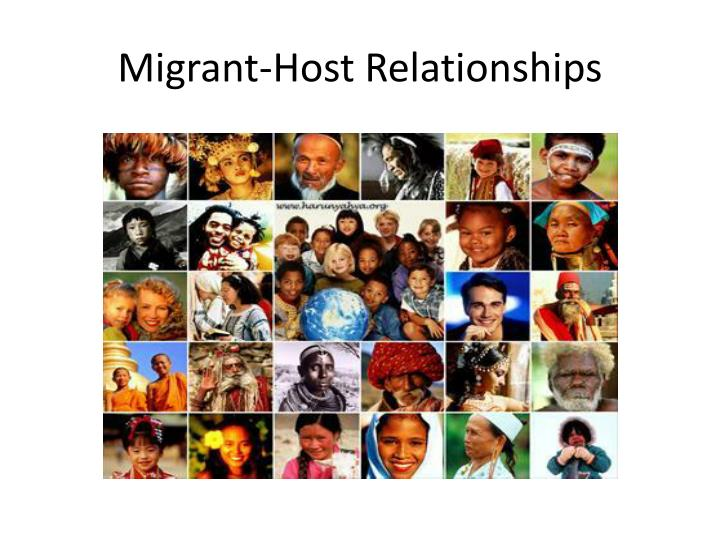 Migrant host relationships