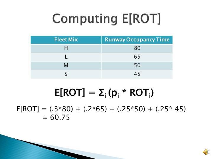 Computing E[ROT]