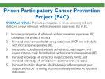 prison participatory cancer prevention project p4c