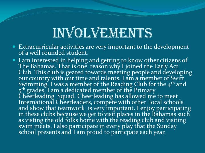 Involvements