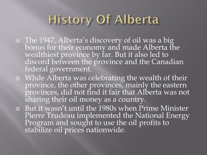 History Of Alberta