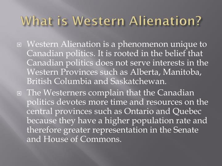 What is western alienation
