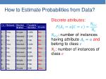 how to estimate probabilities from data1