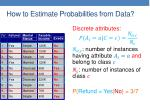 how to estimate probabilities from data2