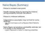 na ve bayes summary