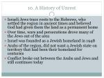10 a history of unrest
