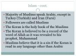 islam cont