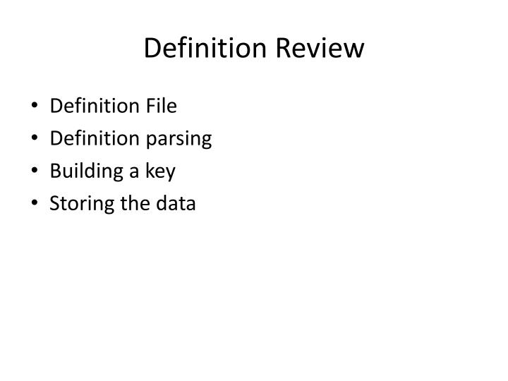 Definition Review