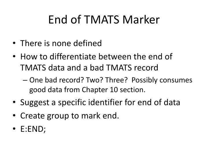 End of TMATS Marker