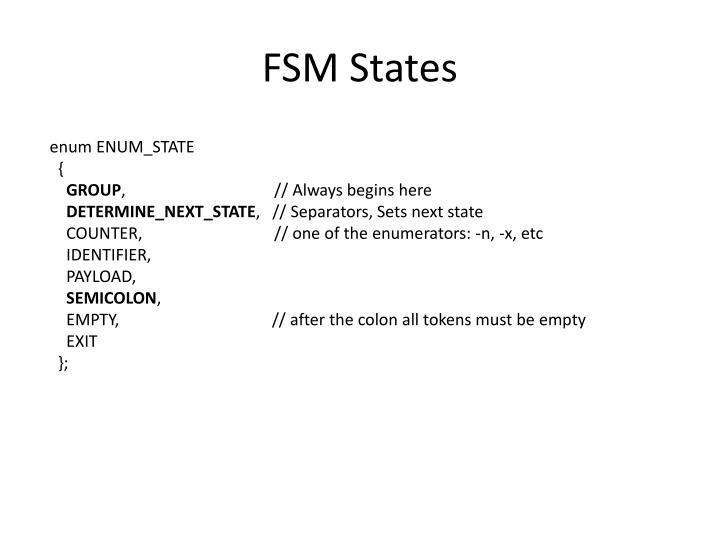 FSM States