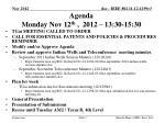 agenda monday nov 12 th 2012 13 30 15 30