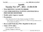 agenda tuesday nov 13 th 2012 13 30 15 30